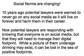 Social Norms are Changing